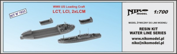 WWII US Loading Craft LCT, LCI, 2xLCM