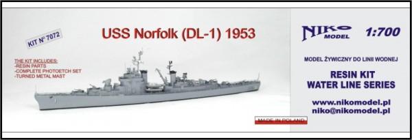 USS NORFOLK DL-1 1953