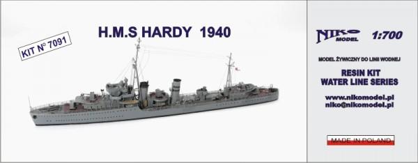 H.M.S HARDY 1940