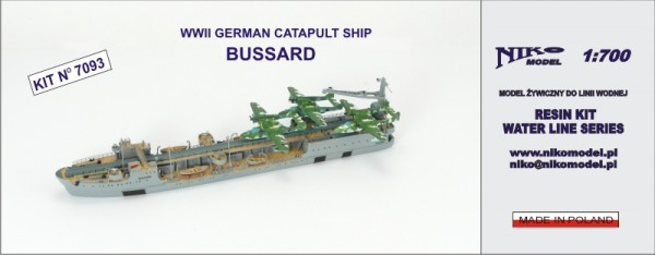 WWII GERMAN CATAPULT SHIP - BUSSARD
