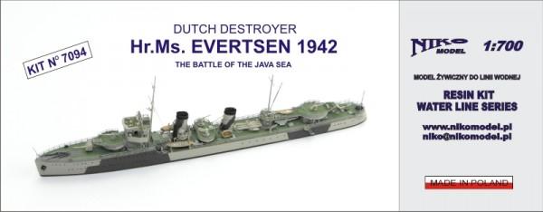 DUTCH DESTROYER - Hr.Ms. EVERTSEN 1942