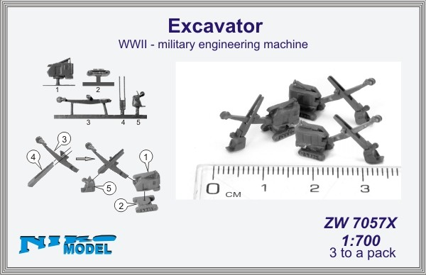 Excavator  WWII - military engineering machine